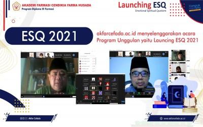 Akfar Cefada Menyelenggarakan Acara Program Launching ESQ 2021 Menggunakan Aplikasi ZOOM
