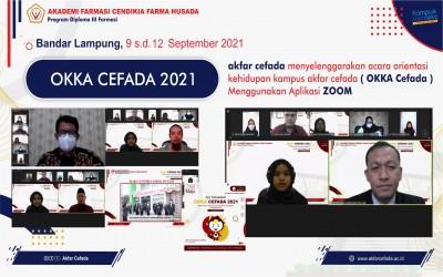 Akfar Cefada Menyelenggarakan Acara Orientasi Kehidupan Kampus ( OKKA CEFADA 2021 ) Menggunakan Aplikasi ZOOM